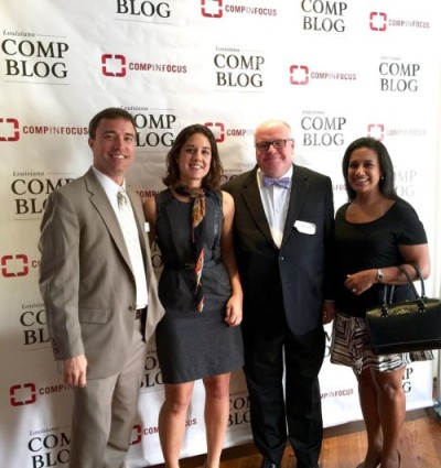 From left: Matthew Monson of the Monson Firm, Comp Blog Editor Nina Luckman, LCI Workers' Comp Administrator Mark Tullis, Lauara Abel of the Monson Firm